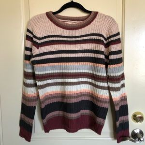 Pink Rose knit sweater size large